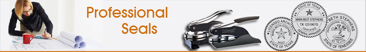 Order Embossing Professional Seals or Rubber Stamp Professional Seals online at Wholesale. For Engineers, Architect, Geologist, Land Surveyor, Appraisers.