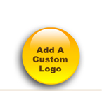 One time Custom Logo set up productions charge associated with these products. No added charges for letters only. Send us tiff or pdf file. Please reference your order clearly in the email