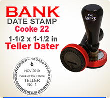 Cooke No. 22 Rotary Bank Teller Daters are asked for by top name Bankers often. This Cooke No 22 Rotary Bank Teller Dater is ideal for hard, continuous service.