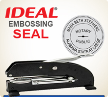 Custom XTRA Long Reach Embossing Seal With Your Logo in the middle.