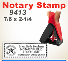 Trodat 9413 Mobile Notary Seal, Inking Rectangle Notary Seal Rubber Stamp. Order by 4 pm Central and ships next day.