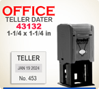 Order Trodat 43132 Dater shown here. Used for a larger size teller dater and  for many other markings as well. The size is 1-1/4 by 1-1/4 inches.