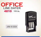 Trodat Self Inking Custom Dater 4810 prints a total line length of about 2 inches.