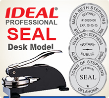 Ideal Embossing Seal, Professional model. This is a 1-5/8 inch Desk Model Ideal Embosser Seal used by various Professionals.
