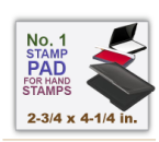 Inked Rubber Stamp Pad No 1 size for Handle Rubber Stamps. Has a heavy duty felt pad. 2-3/4 x 4-1/4 in.