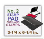 Inked Rubber Stamp Pad No 1 size for Handle Rubber Stamps. Has a heavy duty felt pad. 3-1/4 x 6-1/4 in.