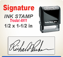 Order Ideal 50 Custom Self-Inking Signature Stamper here. Fast Shipping.