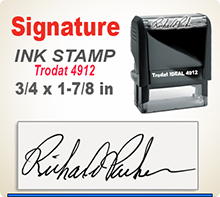 Order Ideal 80 Custom Self-Inking Signature Stamper here. Fast Shipping.
