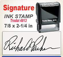 Order Ideal 100 Custom Self-Inking Signature Stamper here. Fast Shipping.