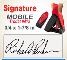 Order Trodat 9412 Custom Self-Inking Signature Stamper here. Fast Shipping.
