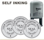 Trodat 46040 Corporate Inking Rubber Stamp 1-5/8 inch. These seals are used where allowed by state law in Corporate Documents. Be sure of you state's requirements before ordering.